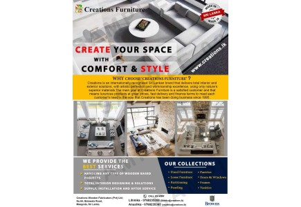 Create your space with Comfort & Style